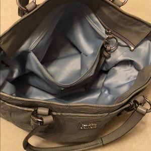 Coach Bags - Grey Leather Coach Shoulder Bag